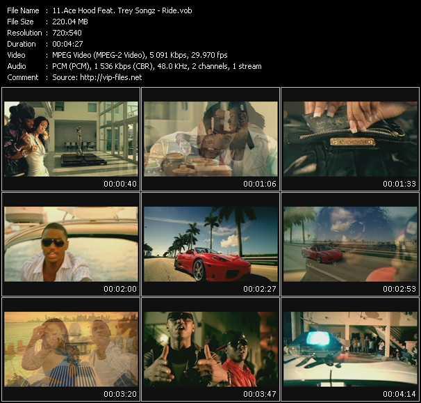 Screenshot of Music Video Ace Hood Feat. Trey Songz - Ride