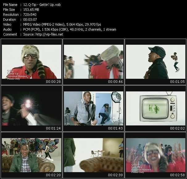 Screenshot of Music Video Q-Tip - Gettin' Up