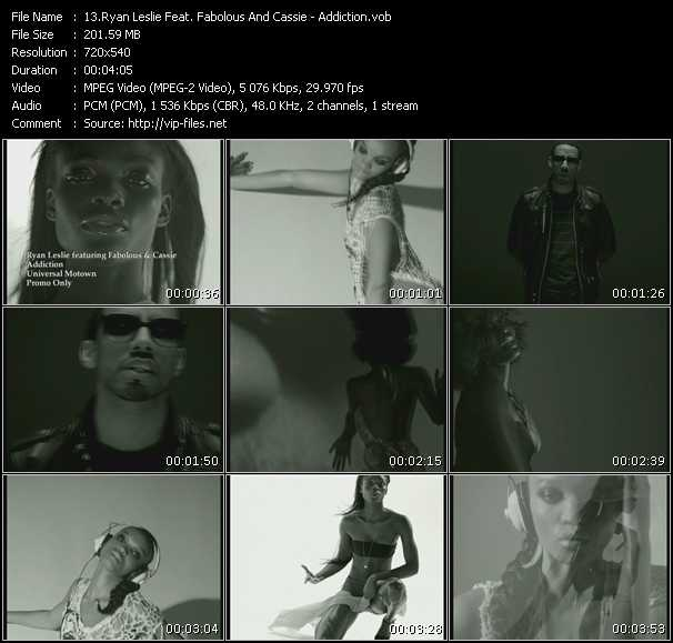 Screenshot of Music Video Ryan Leslie Feat. Fabolous And Cassie - Addiction