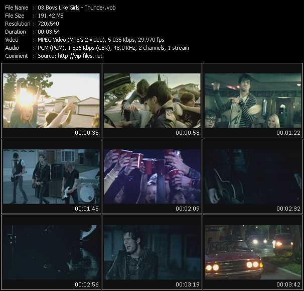 Screenshot of Music Video Boys Like Girls - Thunder