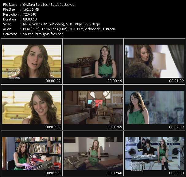 Screenshot of Music Video Sara Bareilles - Bottle It Up
