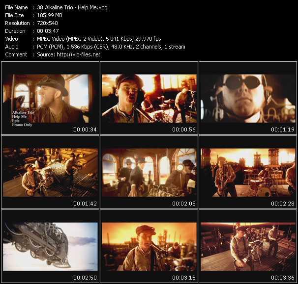 Screenshot of Music Video Alkaline Trio - Help Me