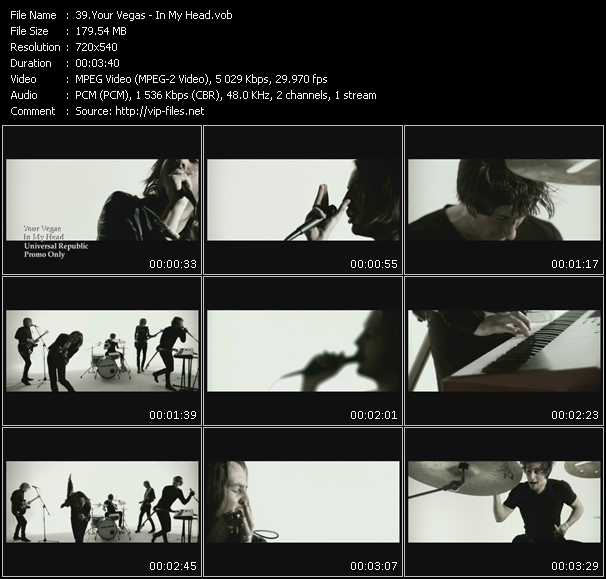Screenshot of Music Video Your Vegas - In My Head