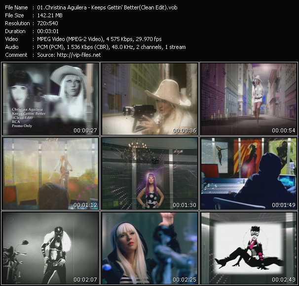 Screenshot of Music Video Christina Aguilera - Keeps Gettin' Better (Clean Edit)