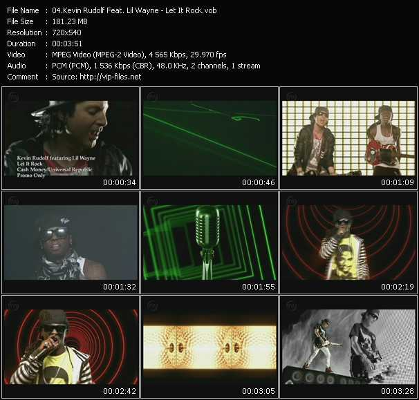 Screenshot of Music Video Kevin Rudolf Feat. Lil' Wayne - Let It Rock