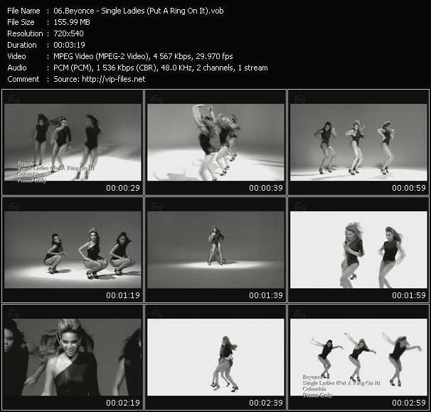 Screenshot of Music Video Beyonce - Single Ladies (Put A Ring On It)