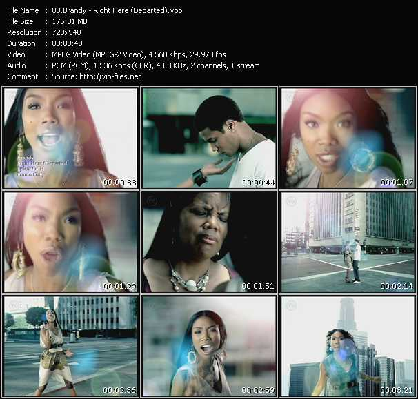 Screenshot of Music Video Brandy - Right Here (Departed)