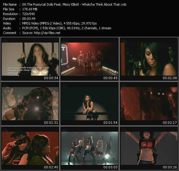 Screenshot of Music Video Pussycat Dolls Feat. Missy Elliott - Whatcha Think About That