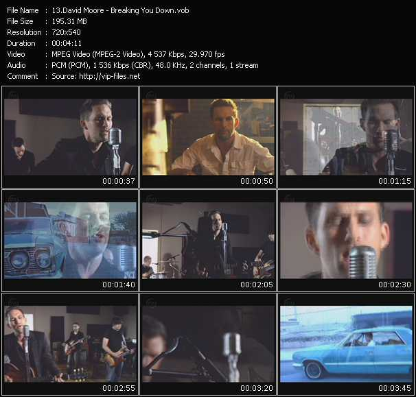 Screenshot of Music Video David Moore - Breaking You Down