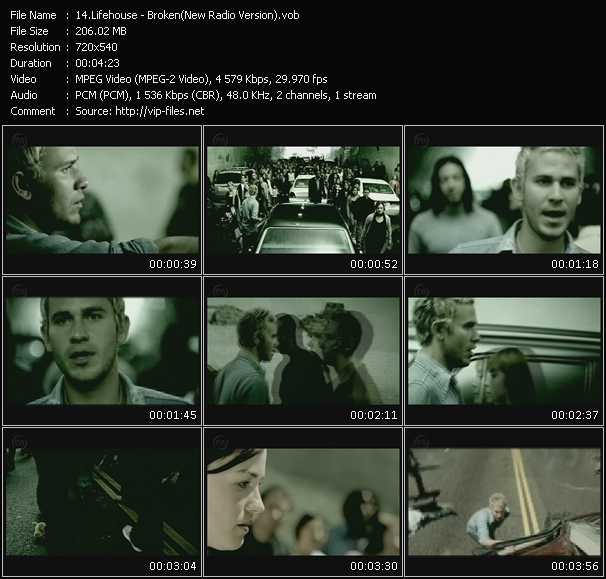 Screenshot of Music Video Lifehouse - Broken (New Radio Version)