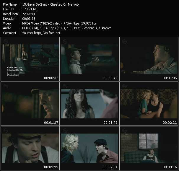 Screenshot of Music Video Gavin DeGraw - Cheated On Me
