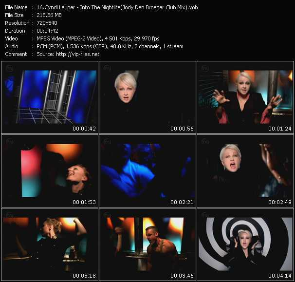 Screenshot of Music Video Cyndi Lauper - Into The Nightlife (Jody Den Broeder Club Mix)