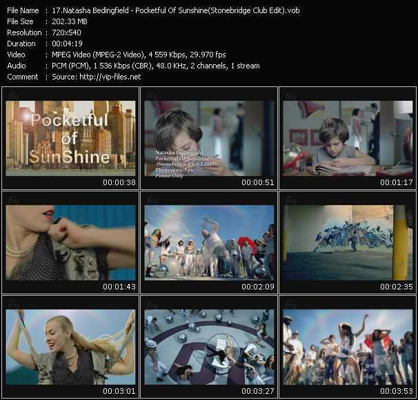 Screenshot of Music Video Natasha Bedingfield - Pocketful Of Sunshine (Stonebridge Club Edit)