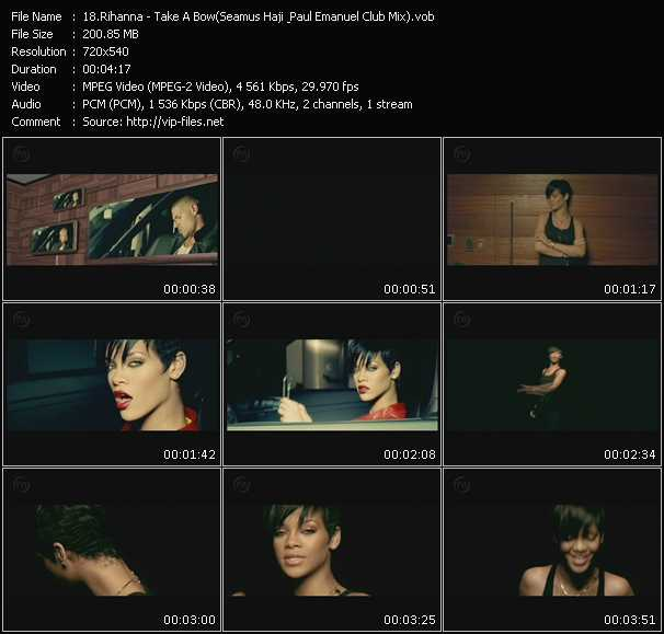 Rihanna video vob