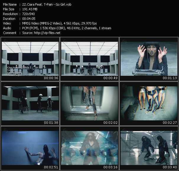 Screenshot of Music Video Ciara Feat. T-Pain - Go Girl