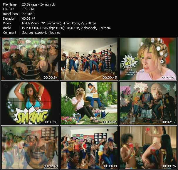 Screenshot of Music Video Savage - Swing