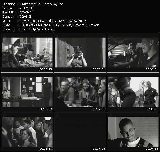 Screenshot of Music Video Beyonce - If I Were A Boy