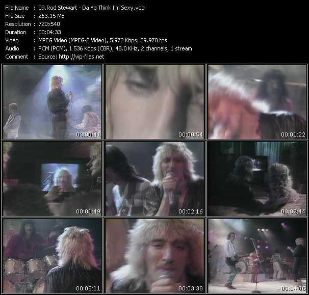 Screenshot of Music Video Rod Stewart - Da Ya Think I'm Sexy?