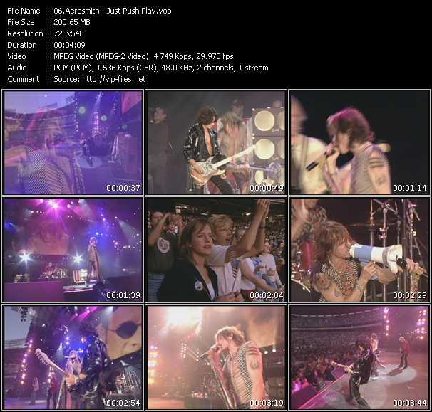 Screenshot of Music Video Aerosmith - Just Push Play
