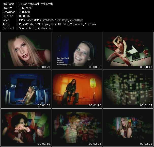Screenshot of Music Video Ian Van Dahl - Will I?
