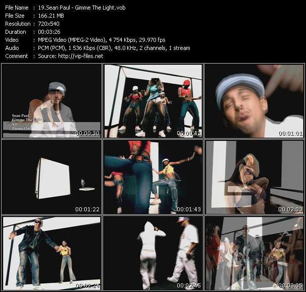 Screenshot of Music Video Sean Paul - Gimme The Light