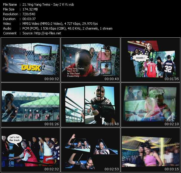 Screenshot of Music Video Ying Yang Twins - Say I Yi Yi