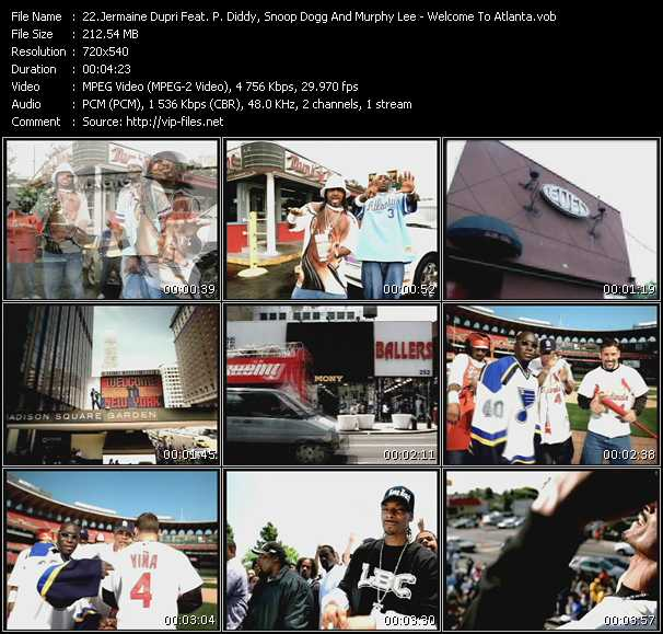 Screenshot of Music Video Jermaine Dupri Feat. P. Diddy (Puff Daddy), Snoop Dogg And Murphy Lee - Welcome To Atlanta