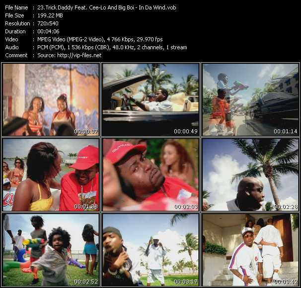 Screenshot of Music Video Trick Daddy Feat. Cee Lo Green And Big Boi - In Da Wind
