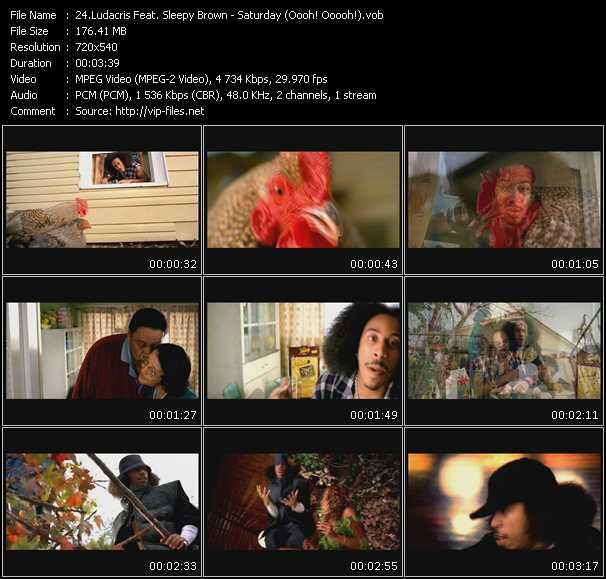 Screenshot of Music Video Ludacris Feat. Sleepy Brown - Saturday (Oooh! Ooooh!)