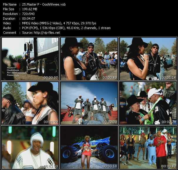 Screenshot of Music Video Master P - Ooohhhwee