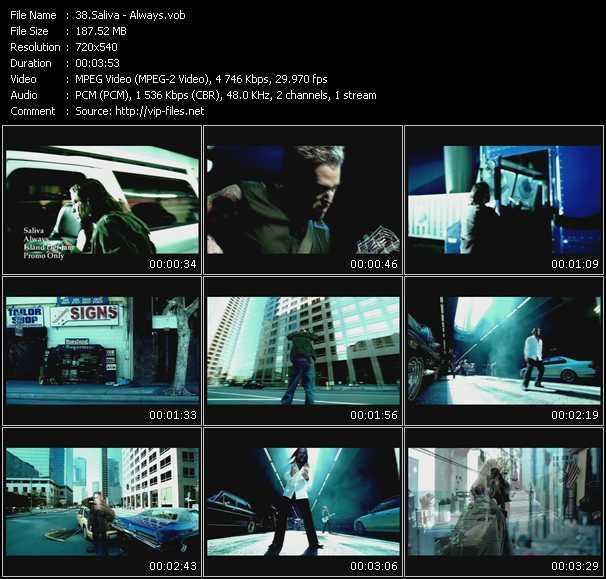 Screenshot of Music Video Saliva - Always