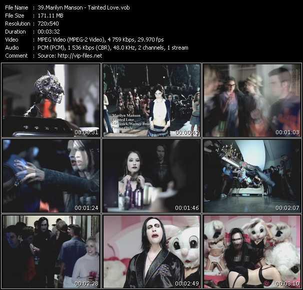 Screenshot of Music Video Marilyn Manson - Tainted Love