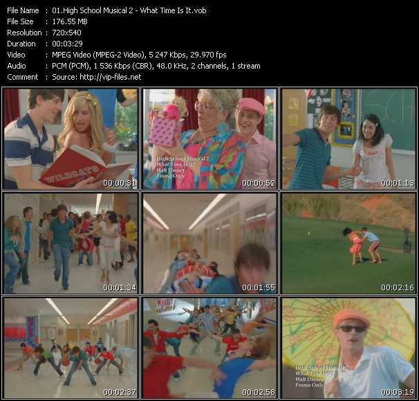 Screenshot of Music Video High School Musical 2 - What Time Is It?