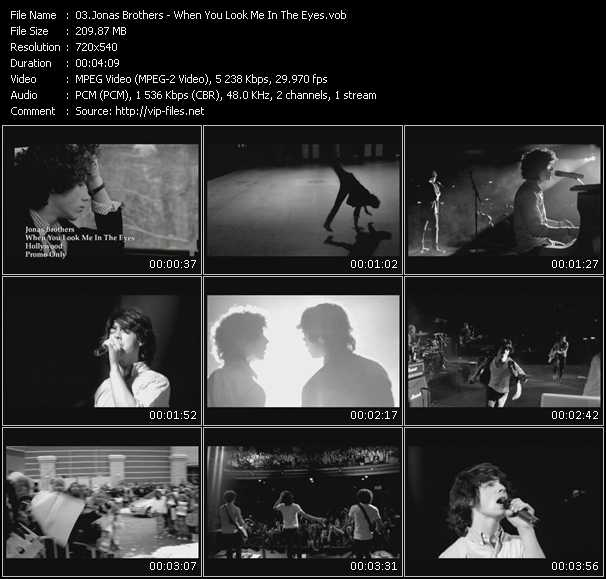 Screenshot of Music Video Jonas Brothers - When You Look Me In The Eyes