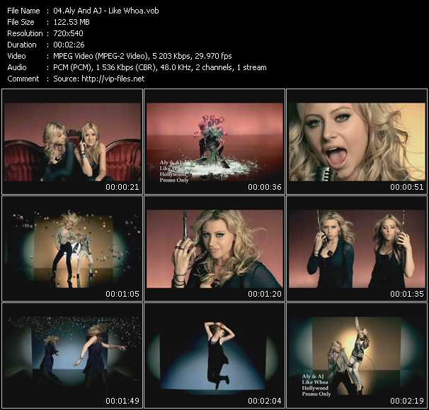 Screenshot of Music Video Aly And Aj - Like Whoa
