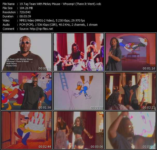 Screenshot of Music Video Tag Team with Mickey Mouse - Whoomp! (There It Went)
