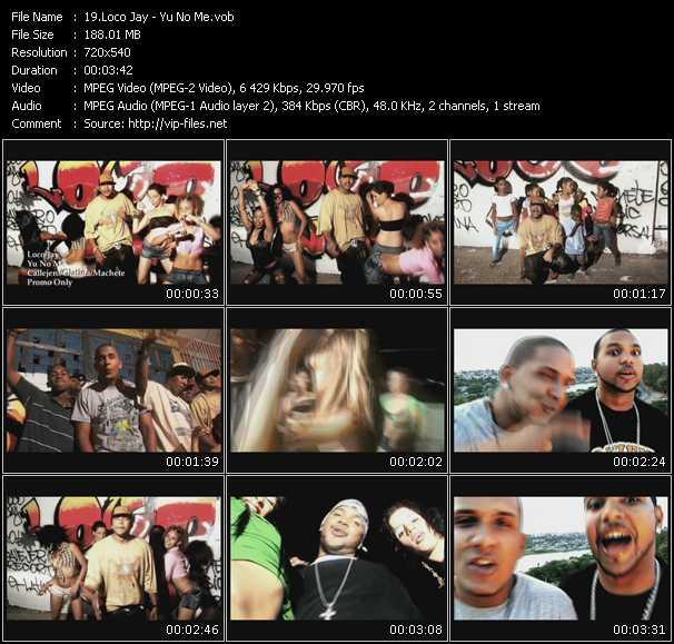 Screenshot of Music Video Loco Jay - Yu No Me