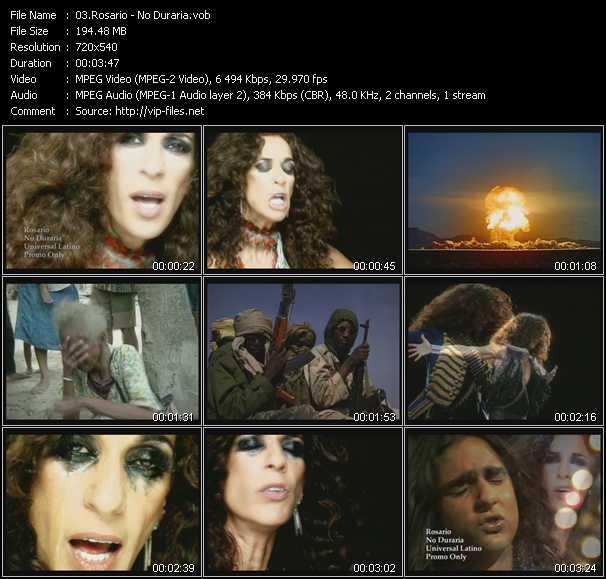 Screenshot of Music Video Rosario (Rosario Flores) - No Dudaria