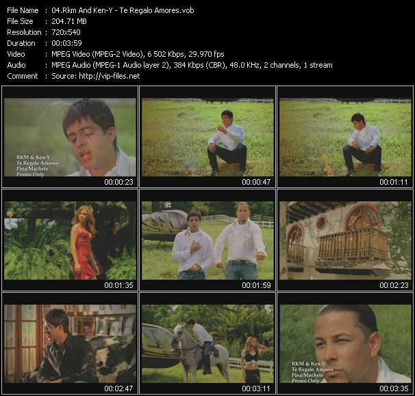 Screenshot of Music Video Rakim And Ken-Y - Te Regalo Amores