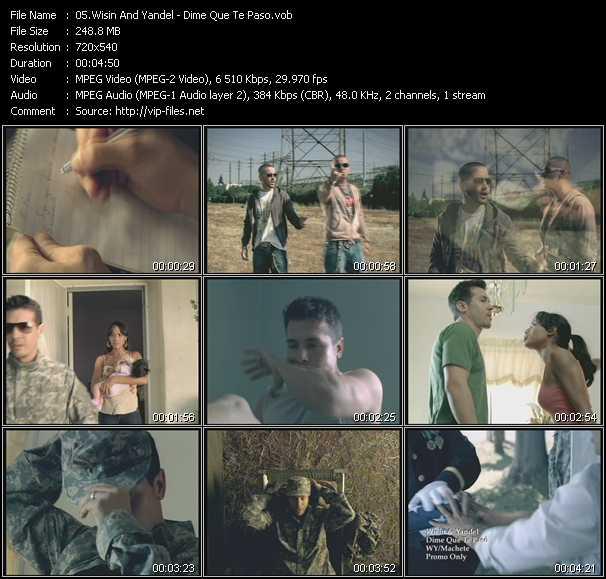 Screenshot of Music Video Wisin And Yandel - Dime Que Te Paso