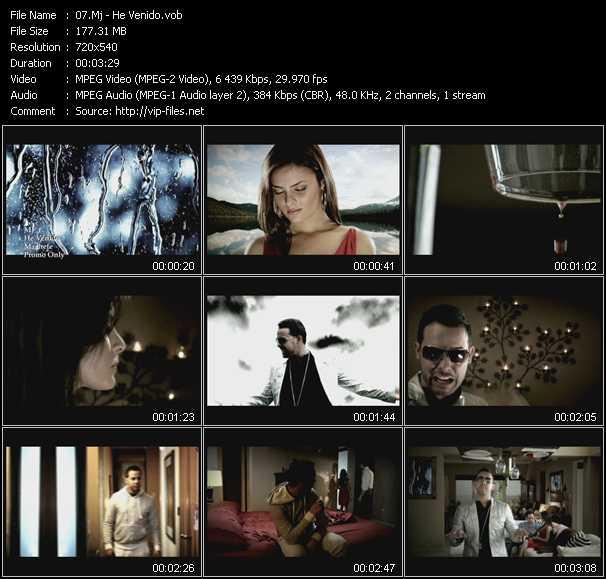 Screenshot of Music Video Mj - He Venido
