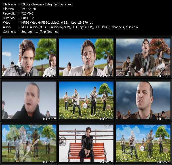 Screenshot of Music Video Los Claxons - Estoy En El Aire