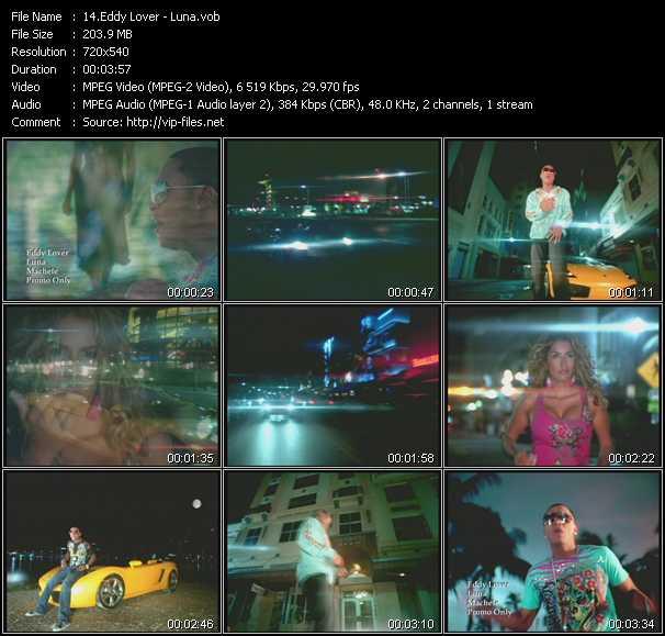 Screenshot of Music Video Eddy Lover - Luna