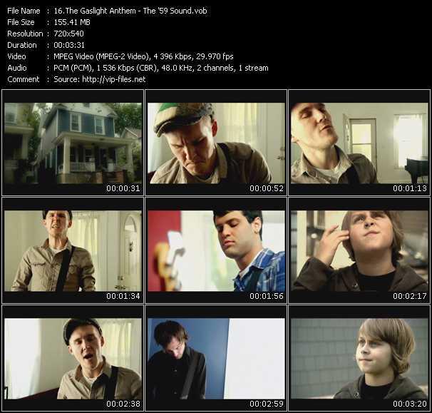 Screenshot of Music Video Gaslight Anthem - The '59 Sound