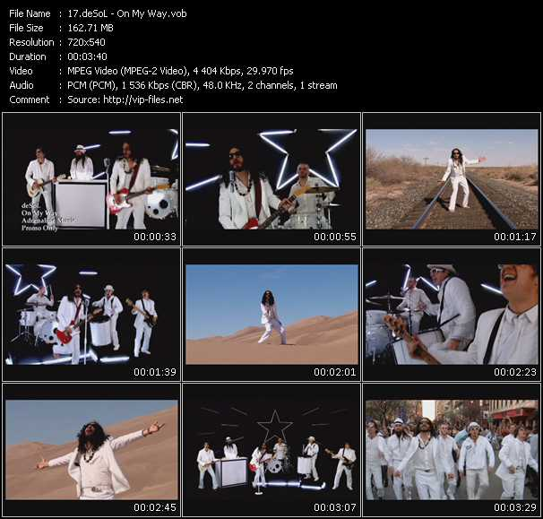 Screenshot of Music Video DeSol - On My Way