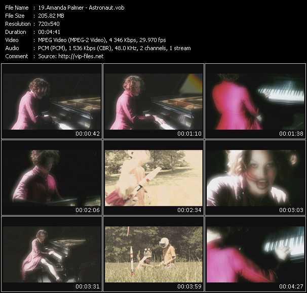 Screenshot of Music Video Amanda Palmer - Astronaut