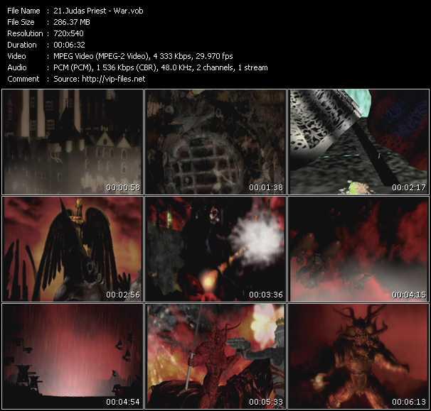 Screenshot of Music Video Judas Priest - War