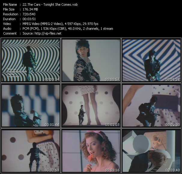 Screenshot of Music Video Cars - Tonight She Comes