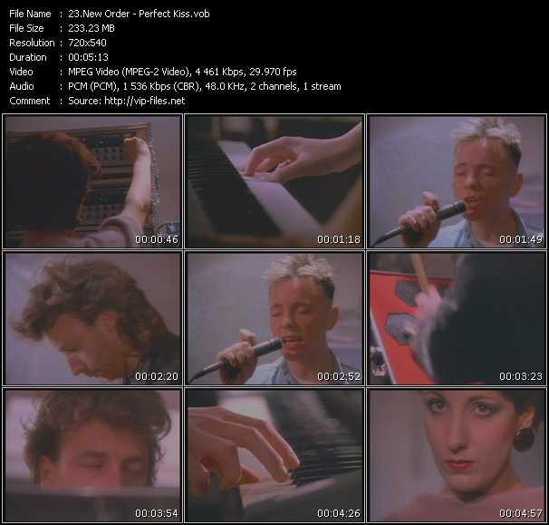 Screenshot of Music Video New Order - Perfect Kiss