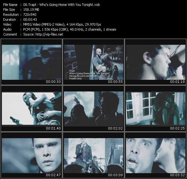 Screenshot of Music Video Trapt - Who's Going Home With You Tonight?